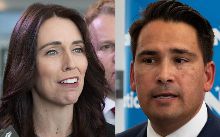 Prime Minister Jacinda Ardern and National leader Simon Bridges