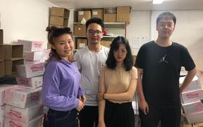 University of Auckland students Summer Xia, Allan Sun, Rong Kuang and Hengda Qin are also members of the New Zealand Chinese Students Association.