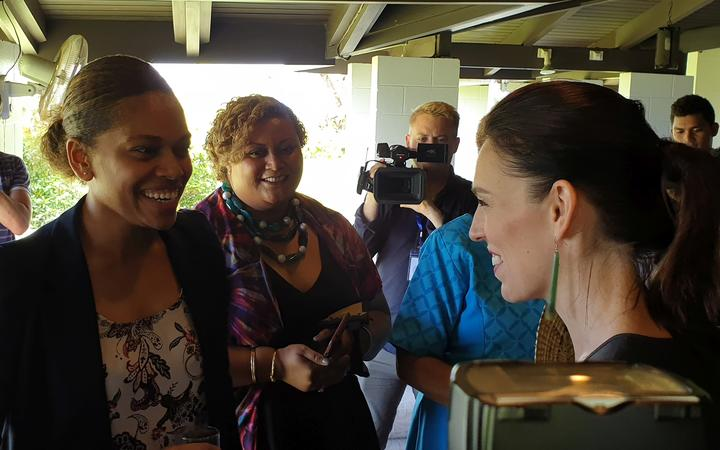 Prime Minister Jacinda Ardern at an event at the University of the South Pacific in Suva.