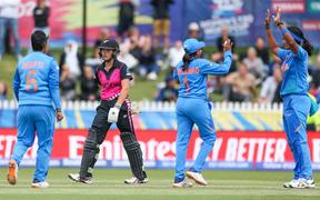 Amelia Kerr during the 2020 ICC Women's T20 World Cup