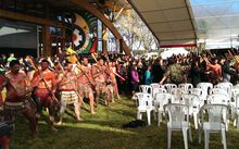 A powhiri was performed for the Crown.