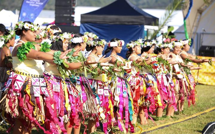 A performance during the 2018 Northland Pasifika Fusion Festival.