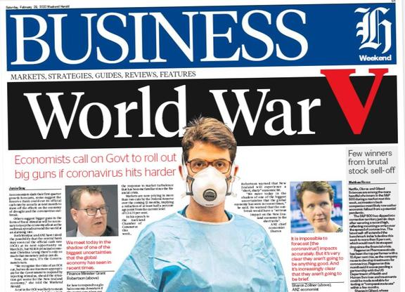 It's war . . . in the business section.