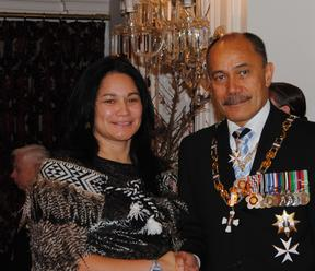 Heather Te Au Skipworth, was awarded the Queen's Service Medal in 2014, by Governor General Jerry Mateparae.