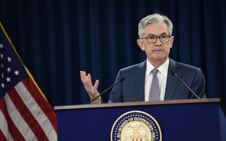US Federal Reserve Chair Jerome  Powell announces a half percentage point interest rate cut.