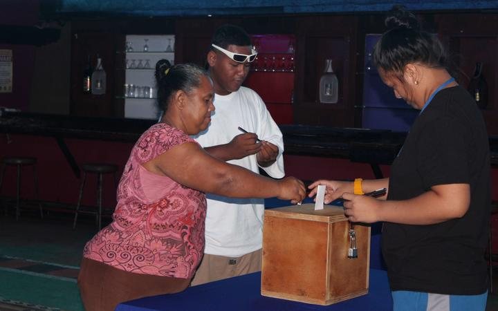 Voting under way in American Samoa.