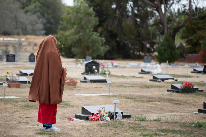 47 of the 51 killed on the mosques attacks on March 15th were male, 31 were husbands. They were shot while kneeling in prayer.  In Muslim tradition these men are martyrs, shuhada, innocents who died in the purest state, a state of prayer.  Memorial Park Cemetery, Bromley, Christchurch.