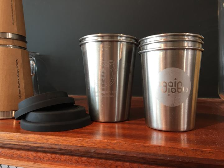 Reusable Again Again coffee cups