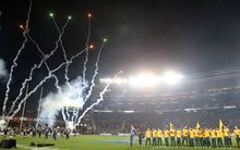 The fireworks display at Eden Park injured three people.