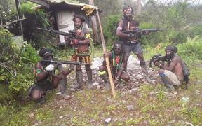 West Papua Liberation Army fighters.