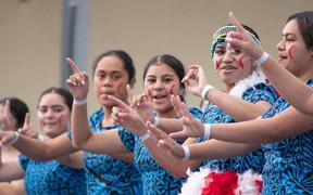 Girls' Samoan group at Canterbury Polyfest.
