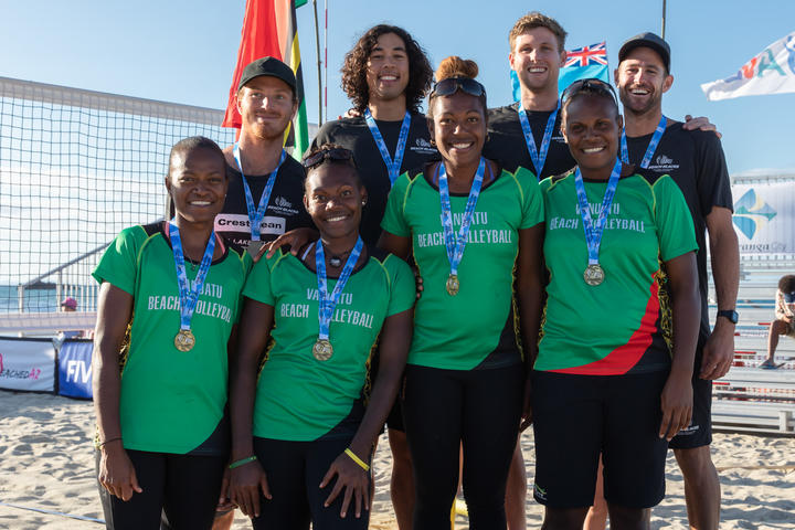 Vanuatu and New Zealand advanced directly to the Asian Volleyball Confederation's Continental Cup final in June.