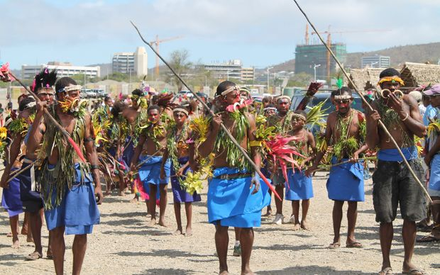 West New Britain custom dancers in Port Moresby