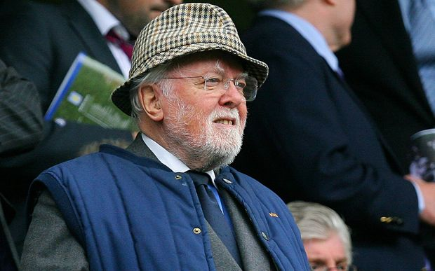 Richard Attenborough at an English premiership football match in 2008.