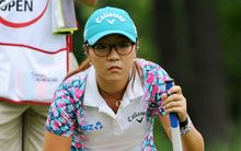 Lydia Ko lines up a putt during the third round of the LPGA Canadian Pacific Women's Open at the London Hunt Golf Club in London, Ontario. 2014.