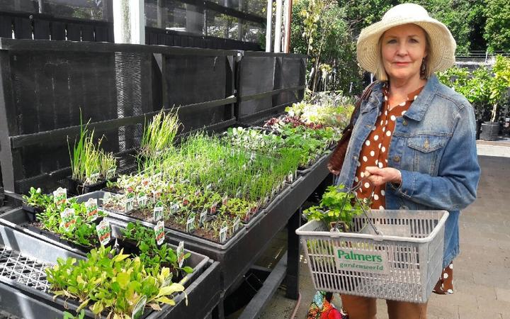 Leslie Lewis at Palmers Garden Centre New Plymouth.