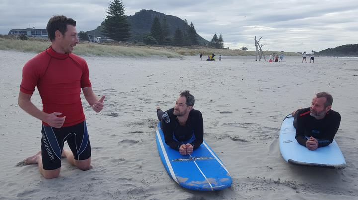 Surfing for Farmers Mount Maunganui