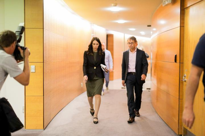 Prime Minister Jacinda Ardern and Director General of Health Ashley Bloomfield.