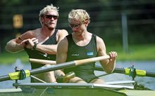 2014 WORLD ROWING Championships. New Zealand's Hamish Bond and Eric Murray.