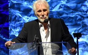 Kenny Rogers accepts the Legacy Award onstage during the 2017 SESAC Nashville Music Awards in Nashville, Tennessee.