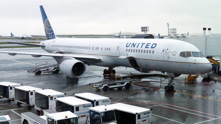 United Airlines said it was cancelling 90 percent of its international flights in April.
