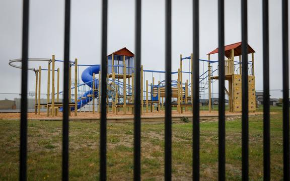 An empty playground in Christchurch as the country prepares to go into lockdown.
