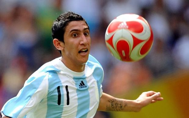 Angel Di Maria playing for Argentina in the World Cup, 2014.