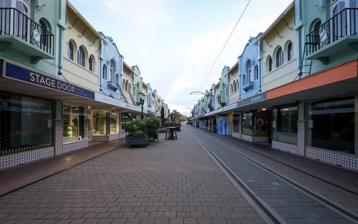 Christchurch on the morning of 26 March, on the first day of the nationwide Covid-19 lockdown.