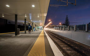 The train station at Ellerslie was mostly deserted as the country woke up to it's first day in lockdown.  Trains were mostly empty. One south-bound train picked up four people, no passangers for the three city bound trains that stopped at the platform.