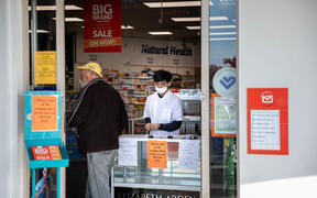 Pharmacies remain open during the lockdown. Mt Wellington, Auckland.