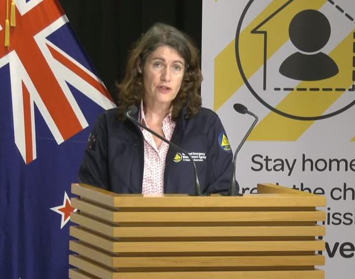 Director of Civil Defence Emergency Management Sarah Stuart-Black giving an update on NZ's response to Covid-19.