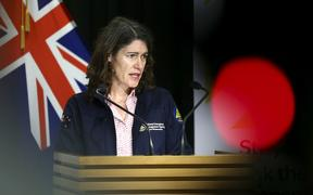 WELLINGTON, NEW ZEALAND - MARCH 31: Director of Civil Defence Emergency Management Sarah Stuart-Black speaks to media during a press conference at Parliament on March 31, 2020 in Wellington, New Zealand.