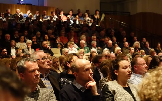 A large crowd turned out for the Queenstown debate.