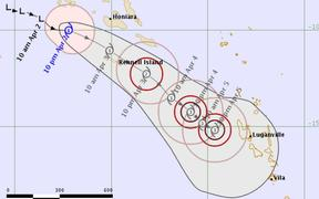 Tropical cyclone Harold, category 1