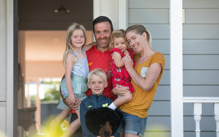 Juliet and Jon Dale at home with their children: Eve, 5, Brady, 7 and Charlotte, 2