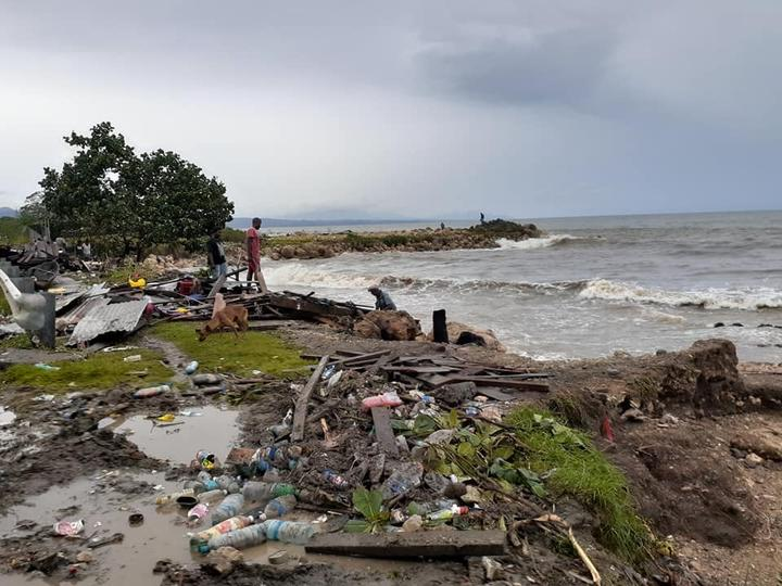 Solomon Islands coastal regions have taken a battering from Cyclone Harold