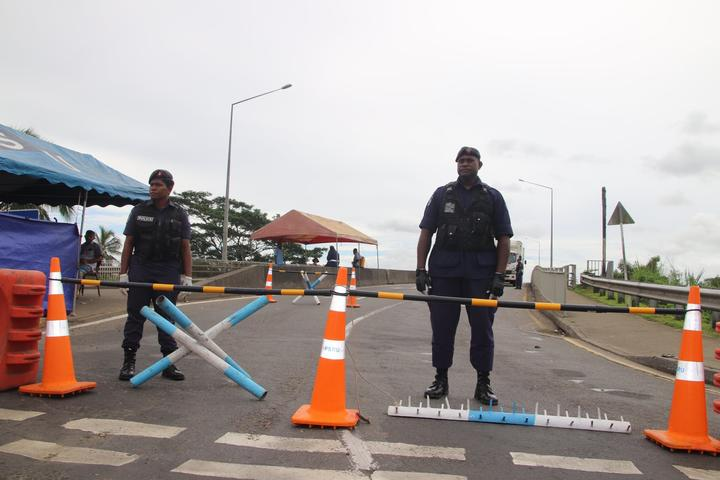 Points in and out of Suva are blocked by police