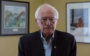 In this video still image Bernie Sanders announces the suspension of his presidential campaign on 8 April 2020.