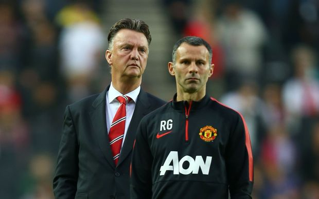 Manchester United managers Louis van Gaal and Ryan Giggs