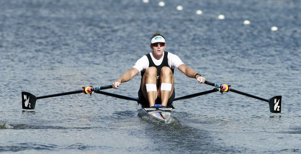 New Zealand rower Mahe Drysdale at the 2014 world rowing championships