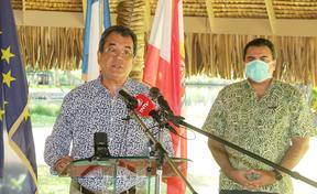 French Polynesia President Edouard Fritch updating response to Covid-19 outbreak
