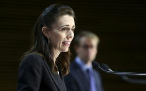 WELLINGTON, NEW ZEALAND - APRIL 09: Prime Minister Jacinda Ardern speaks to media during a press conference at Parliament on April 09, 2020 in Wellington, New Zealand.