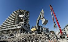 Christchurch's Crowne Plaza hotel was among many buildings demolished following the Feb 2011 quake.