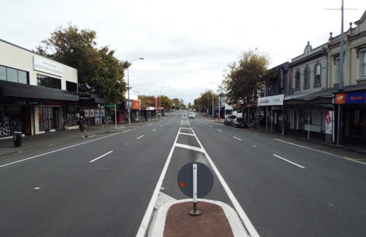 Auckland's Ponsonby Rd during lockdown