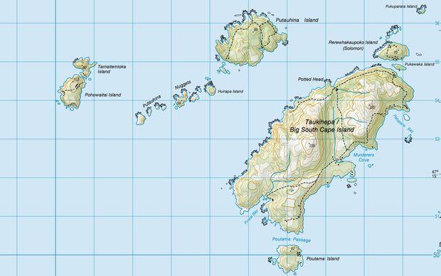 Tamaitemioka and Pohowaitai, two of the Titi Islands south-west of Stewart Island.