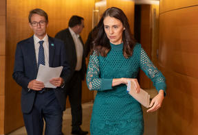 Prime Minister Jacinda Ardern and Director General of Health Dr Ashley Bloomfield
