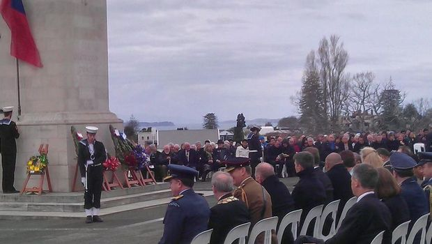 The centenary of New Zealand's capture of Samoa from Germany on August 29, 1914, is commemorated at a national service at the cenotaph at Auckland's War Memorial Museum.