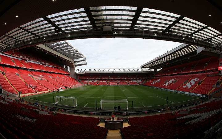 Anfield, Liverpool football club.