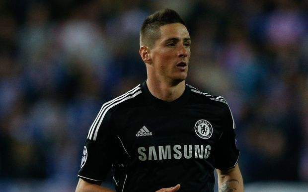 Fernando Torres on away duty with Chelsea