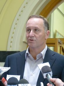 Prime Minister John Key at today's press conference announcing Judith Collins' resignation.